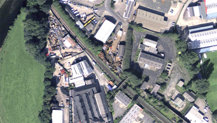 Satellite view of Beezon Road, Kendal, and site of new CN Metalworks workshop