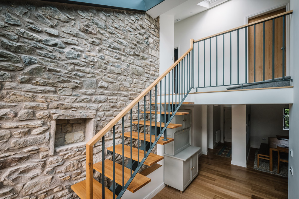 CN Metalworks_Contemporary Staircase In Traditional Country Farmhouse. 1 ...