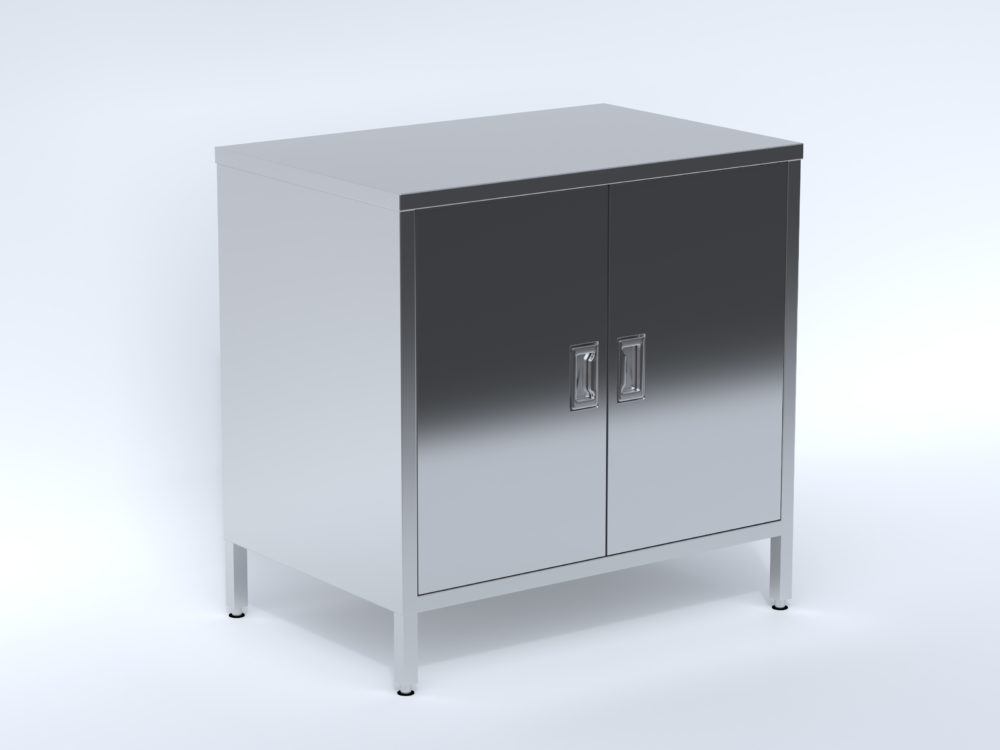 Stainless Steel Free Standing Cabinet with Shelf by CN Metalworks