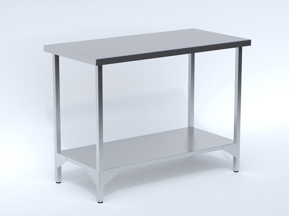 Stainless Steel Centre Table with Shelf